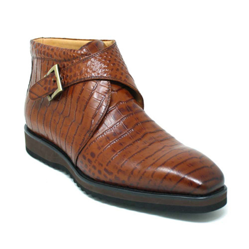 Carrucci Whiskey Leather Monk Strap Chukka Boot