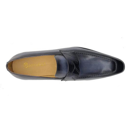 Carrucci Blue Signature Casual Light Weight Sole Mens Penny Loafer