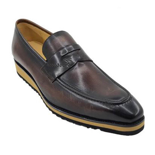 Carrucci Chestnut Signature Casual Light Weight Sole Mens Penny Loafer