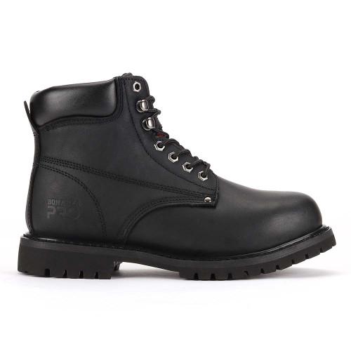 "Bonanza Forester Pro 6"" 3M™ Insulated Black Nubuck Leather Mens Work Boot"