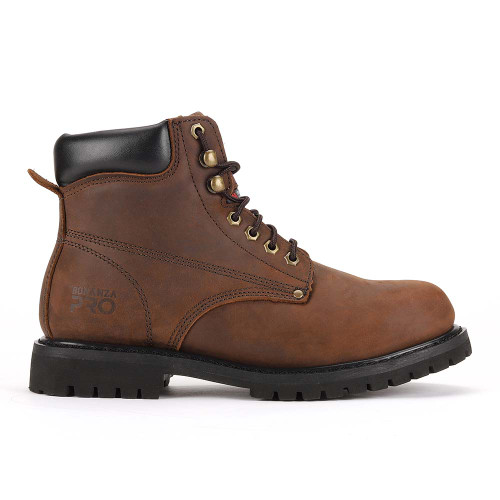 """Bonanza Forester Pro 6"""" 3M™ Insulated Brown Nubuck Leather Mens Work Boot"""
