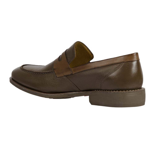 Sandro Moscoloni Abel Brown Genuine Leather Moc Toe Mens Loafer