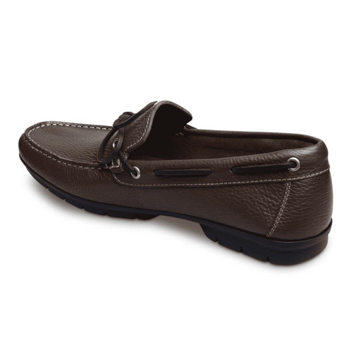 Sandro Moscoloni Luigi Brown Genuine Leather Mens Moc Toe Loafer