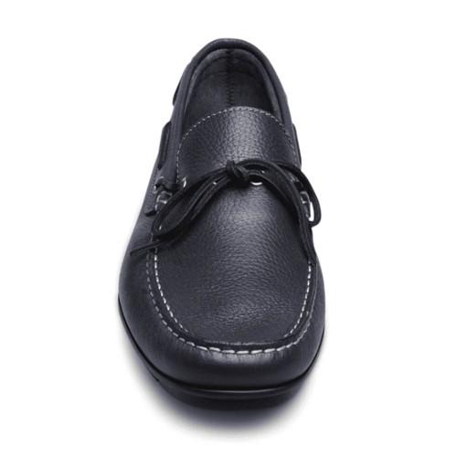 Sandro Moscoloni Luigi Navy Genuine Leather Mens Moc Toe Loafer
