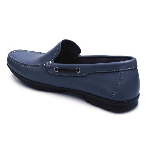 Sandro Moscoloni Luke Blue Genuine Leather Mens Loafer