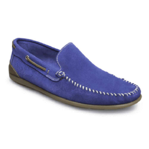 Sandro Moscoloni Michael Blue Suede Leather Whip Stitched Mens Loafer