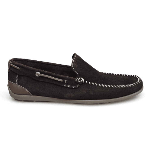Sandro Moscoloni Michael Brown Suede Leather Whip Stitched Mens Loafer