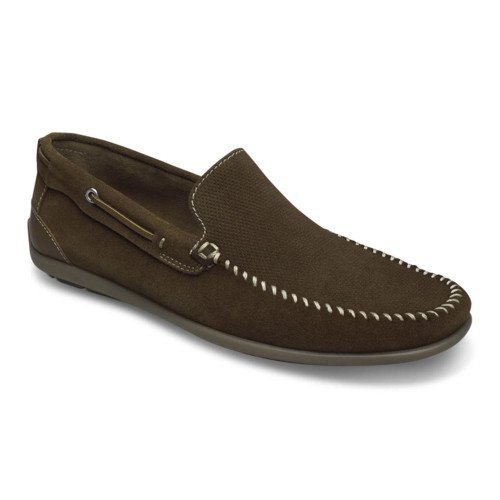 Sandro Moscoloni Michael Tan Suede Leather Whip Stitched Mens Loafer