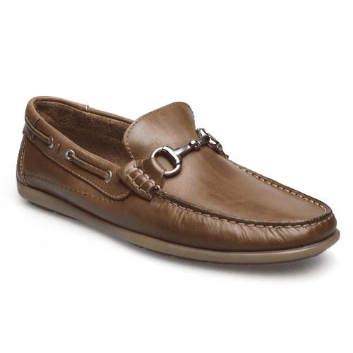 Sandro Moscoloni Milan Tan Genuine Leather Moc Toe Mens Loafer