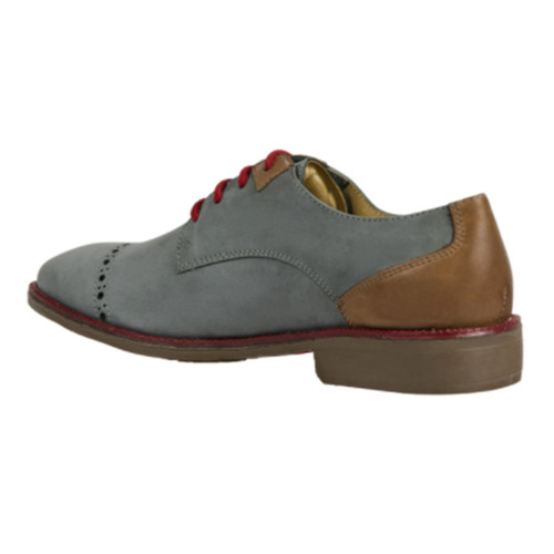 Sandro Moscoloni Percy Grey Genuine Leather Mens Derby