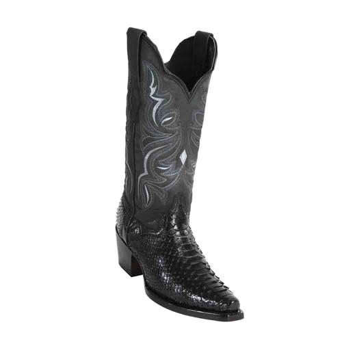 "Wild West Black Python 12"" Snip Toe Womens Boot"