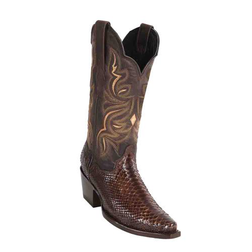 "Wild West Brown Python 12"" Snip Toe Womens Boot"