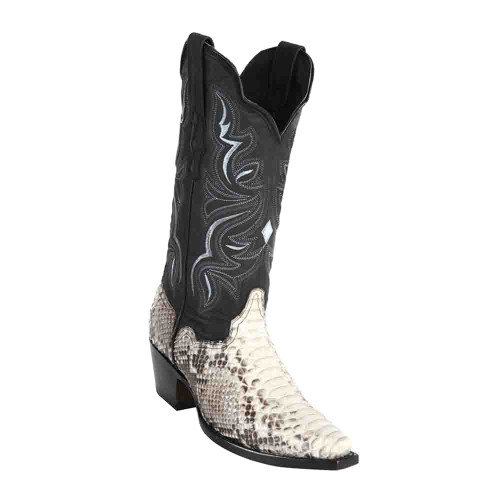 """Wild West Natural Python 12"""" Snip Toe Womens Boot"""