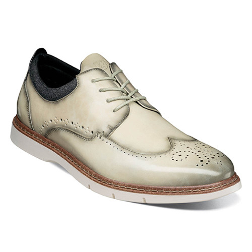 Stacy Adams Synergy Ice Smooth Leather Mens Wingtip Oxford