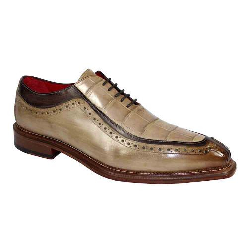 Fennix Elliot Taupe Genuine Alligator & Calf Mens Shoe