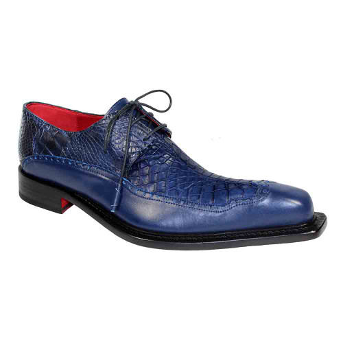 Fennix Finley Blue Genuine Alligator & Calf Mens Shoe