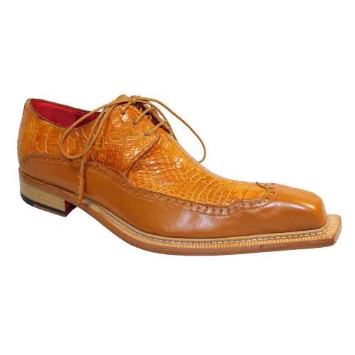 Fennix Finley Cognac Genuine Alligator & Calf Mens Shoe