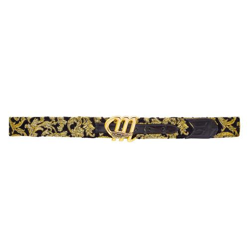 Mauri Black & Gold Mens Matching Belt