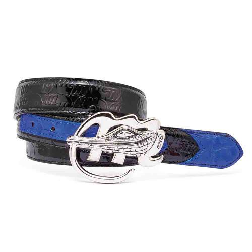 Mauri Black and Royal Blue Mens Matching Belt
