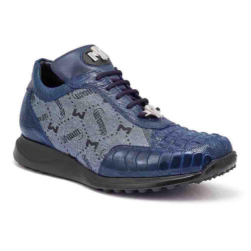 Mauri Carnage Wonder Blue Hornback & Ostrich Mens Sneaker