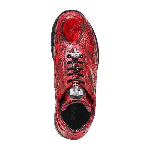 Mauri Red Genuine Python Mens Sneaker