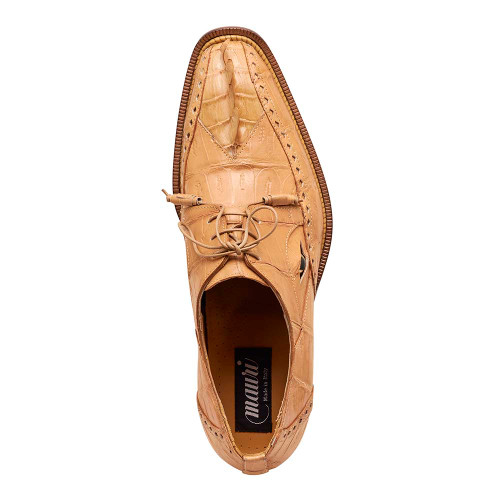 Mauri Fatality Dune Hornback Tail & Baby Croc with Eyes Mens Dress Shoes