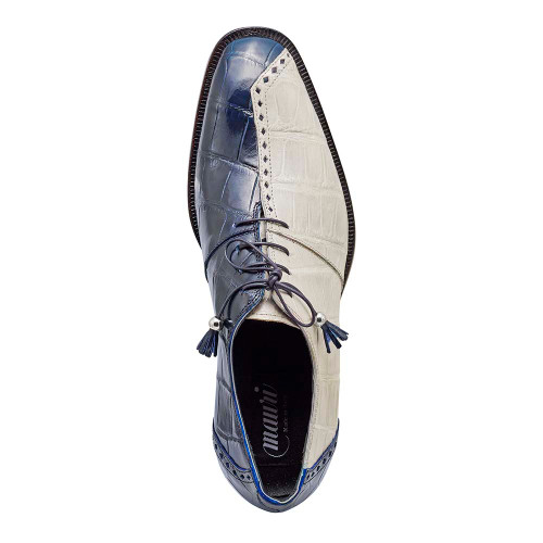 Mauri Tow Face Wonder Blue & Acre Raindrops Body Alligator Mens Dress Shoe