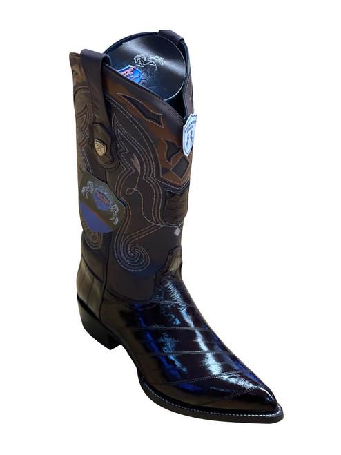 Wild West Brown J-Toe Genuine Eel skin Boot