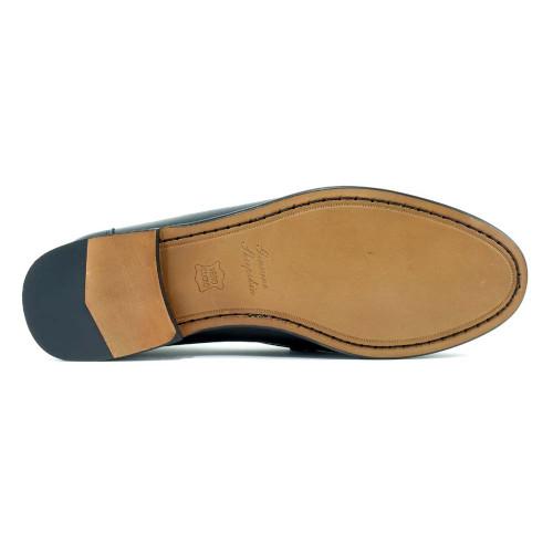 Alan Payne Snaffle Navy Suede Men's Slip-On Loafers