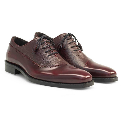 Mezlan Postdam Burgundy Calfskin Leather Mens Oxford