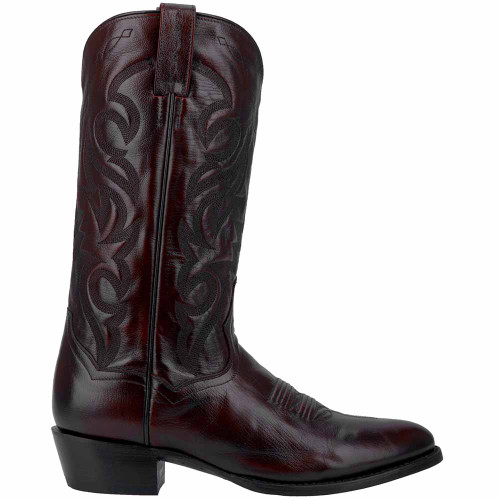 Dan Post Milwaukee Black Cherry Leather R-Toe Boots