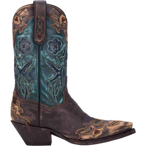 Dan Post Vintage Copper & Teal Leather Boot