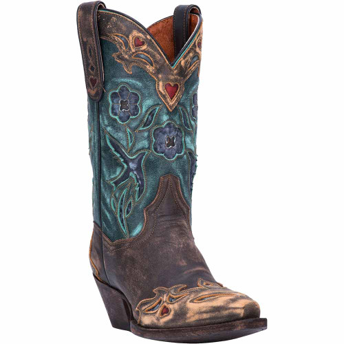 Dan Post Vintage Copper & Teal Leather Boot