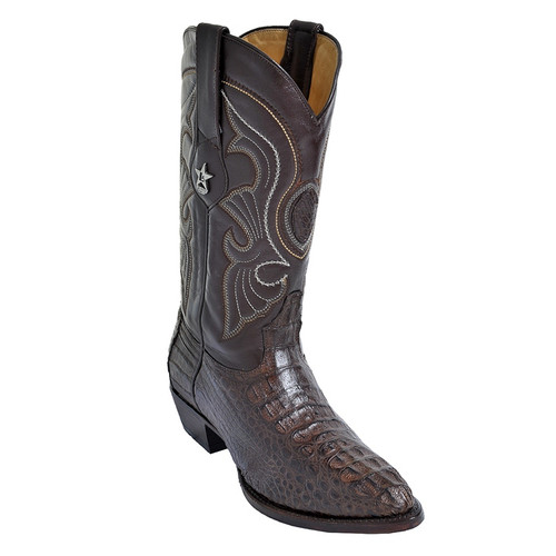 49398bbb917 Los Altos Brown Medium R-Toe Genuine Ostrich Boot