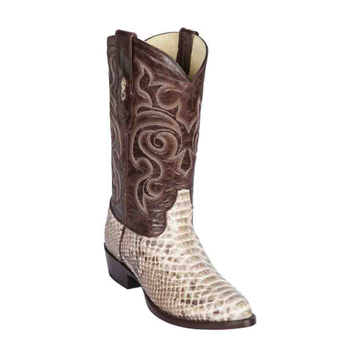 Los Altos Natural Medium Round Toe Genuine Python