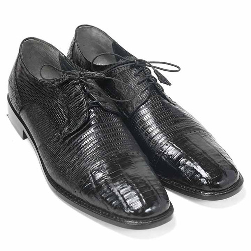 Los Altos Black Genuine Lizard & Caiman Oxford