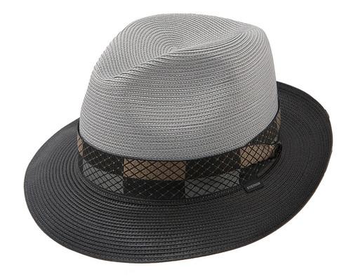 89bf574e7119b Stetson Andover Black   Grey Straw Hat