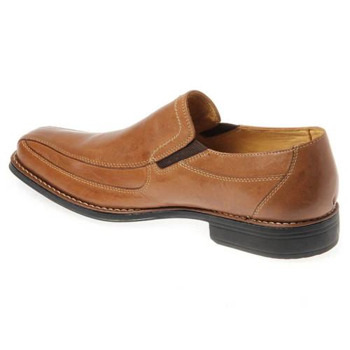 Sandro Moscoloni Berwyn Tan Leather Slip-ons