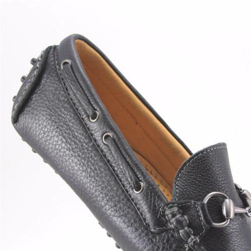 Sandro Moscoloni Nassau Black  Leather Driver Shoes