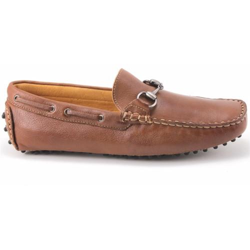 Sandro Moscoloni Nassau Cognac Leather Driver Shoes