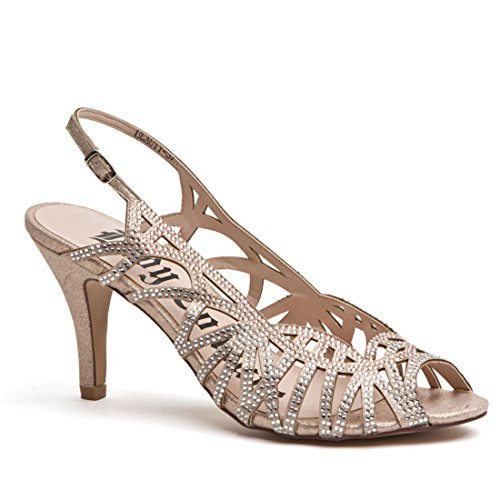 Lady Couture Beauty Champagne Bedazzled Strappy Heels
