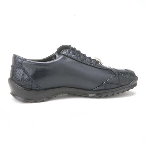 Los Altos Navy Genuine Ostrich Men's Casual Sneaker