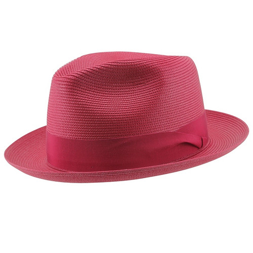 Dobbs Rosebud Red Straw Hat