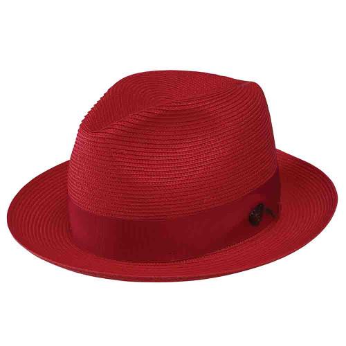 Dobbs Rosebud Red Straw Hat