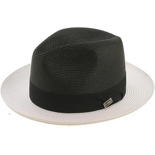 b2fd3b459ab Dobbs Toledo Black & White Straw Hat