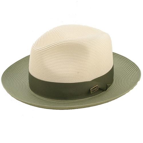 30a70e18347 Dobbs Toledo Ivory & Olive Straw Hat