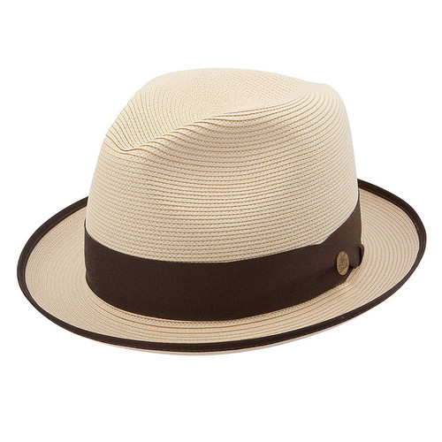 Stetson Latte Cream Straw Hat