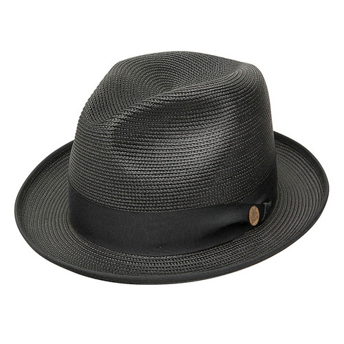 Stetson Latte Black Straw Hat