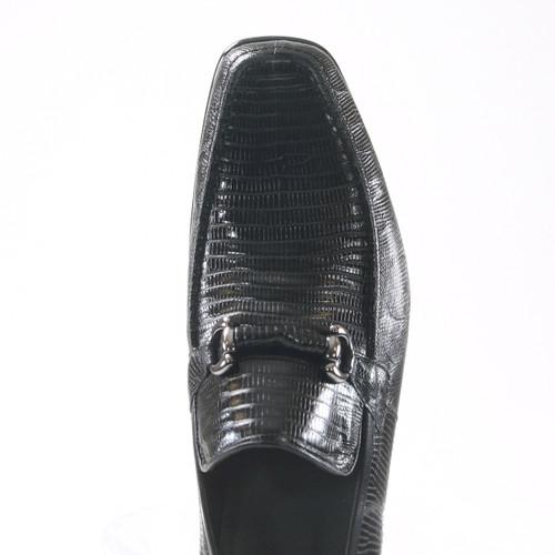 Black Genuine Teju Lizard Skin Slip-on By Los Altos
