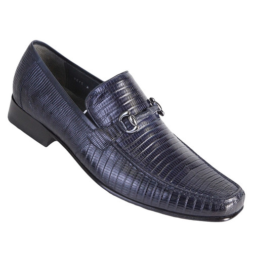 Los Altos Blue Genuine Teju Lizard Loafer